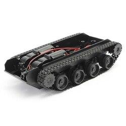Rc tanque robô inteligente tanque kit chassi carro trilha de borracha rastreador para arduino 130 motor diy robô brinquedos para crianças