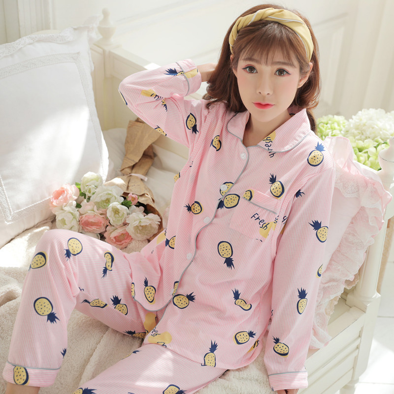 Spring And Autumn Pure Cotton Confinement Clothing Cardigan Nursing Pregnant Women Tracksuit Pregnant Women Pajamas Nursing Nurs