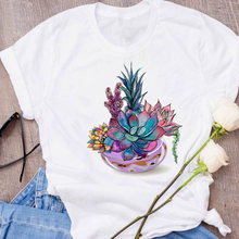 Women Graphic Plant Love Cute Fashion Tumblr 90s Short Sleeve 90s Print Clothes Lady Tees Tops Female T Shirt Womens T-Shirt
