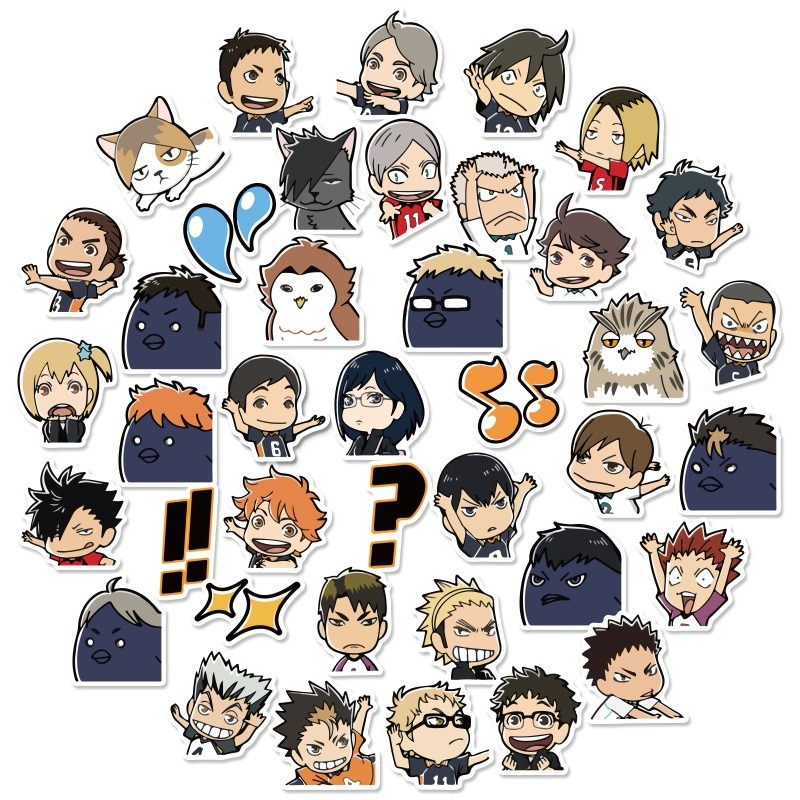 40pcs/Set Haikyuu!! Graffiti Stickers Volleyball Japanese Anime For Suitcase Laptop Luggage Motorcycle Phone Skateboard Car