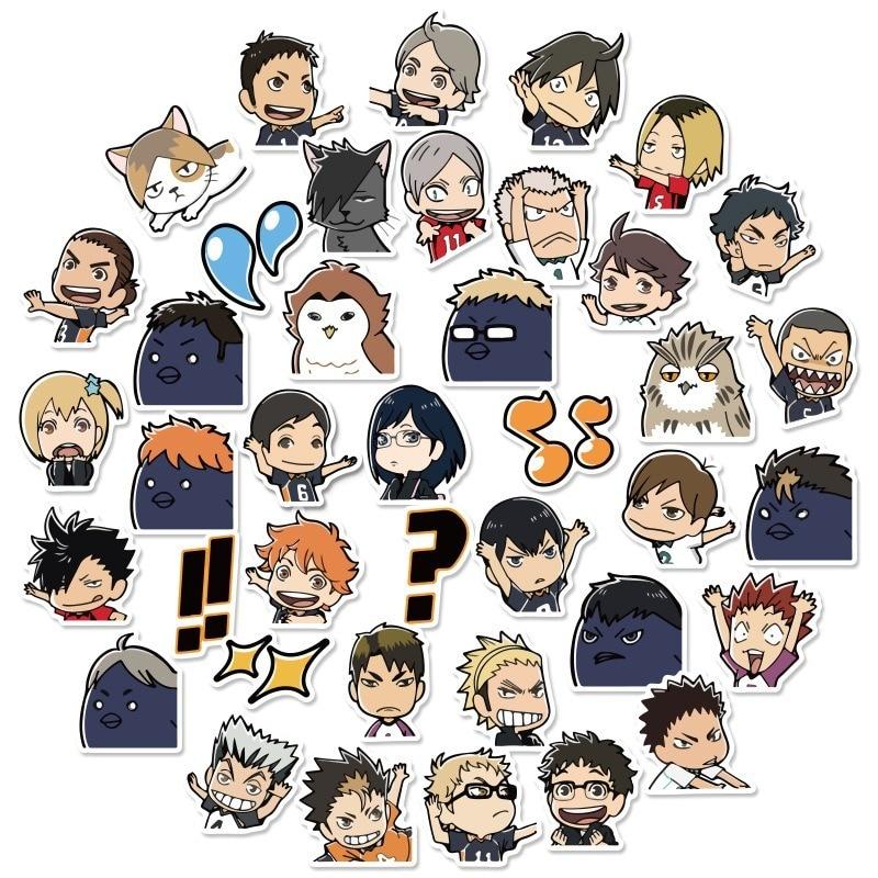 40pcs/Set Haikyuu!! Graffiti Stickers Volleyball Japanese Anime For Suitcase Laptop Luggage Motorcycle Phone Skateboard Car