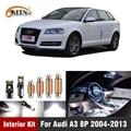 12 шт. для Audi A3 8P 2004-2013 Автомобильный светодиодный интерьерный светильник комплект белого цвета Canbus купольные лампы для чтения дверей