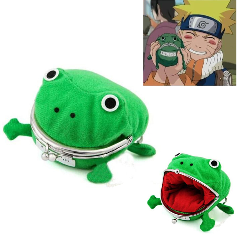 Hot Japan Anime Naruto Coin Purse Green Frog Funny Wallet Fancy Burse Gift