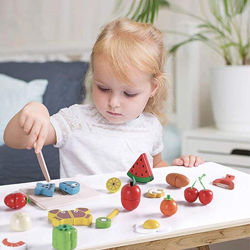 magnetica legumes frutas fingir jogar kits cozinha 05