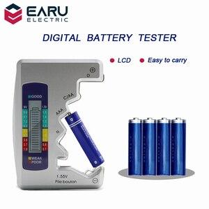 Универсальный, цифровой, с ЖК-дисплем, тестер батареи, кнопка проверки, детектор емкости ячейки C/D/N/AA/AAA/9 В, монитор для тестирования питания ...