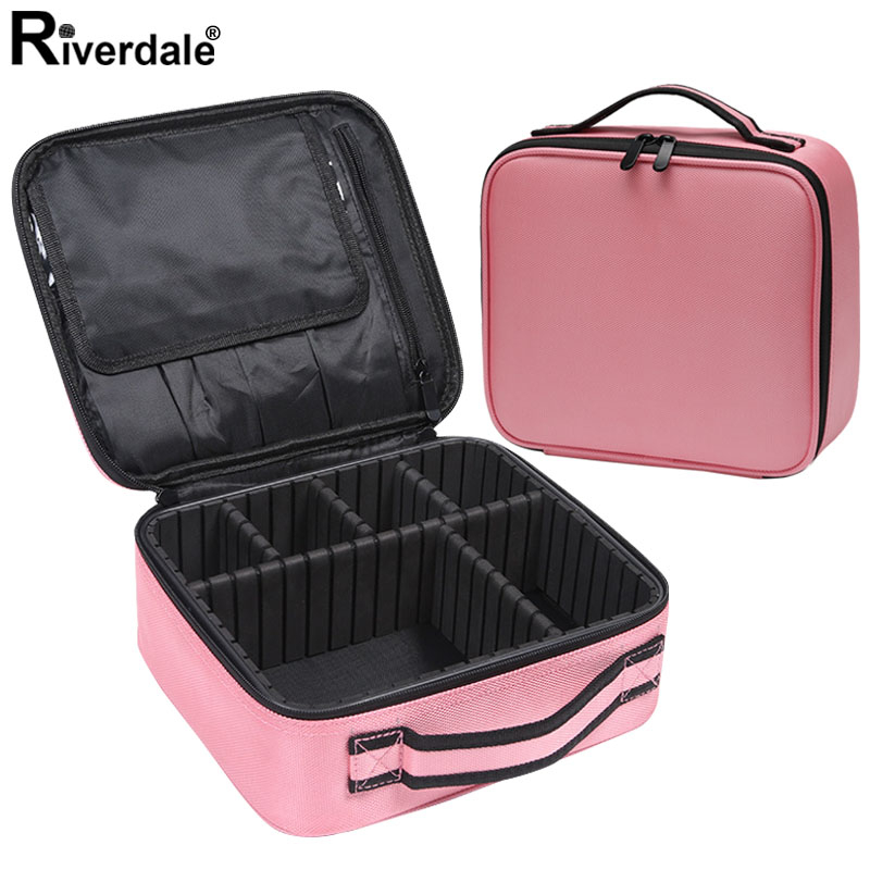 Women Portable Make Up Bag Beautician Pouch Bags Travel Organizer Beauty Case For Makeup New Professional Makeup Case Female
