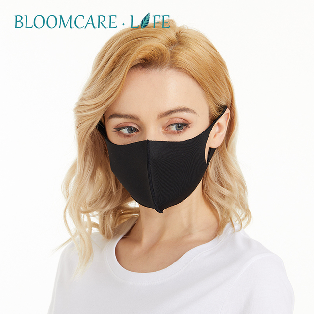 Ship in 24 Hours 【BloomCare】 Anti Flu Sunblock Mouth Mask 3D Fashion Black Color, Reusable Dust Proof Soft Face Mask Breathable 2