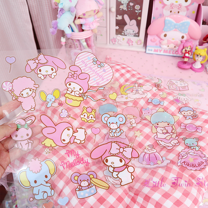 Creative Twin Stars Melody Sticker Decoration DIY Ablum Diary Scrapbooking Label Sticker Cute Stationery
