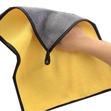 Полотенце для мытья автомобиля, полировка, плюшевое полотенце из микрофибры, яркое толстое чистящее полотенце из искусственного волокна