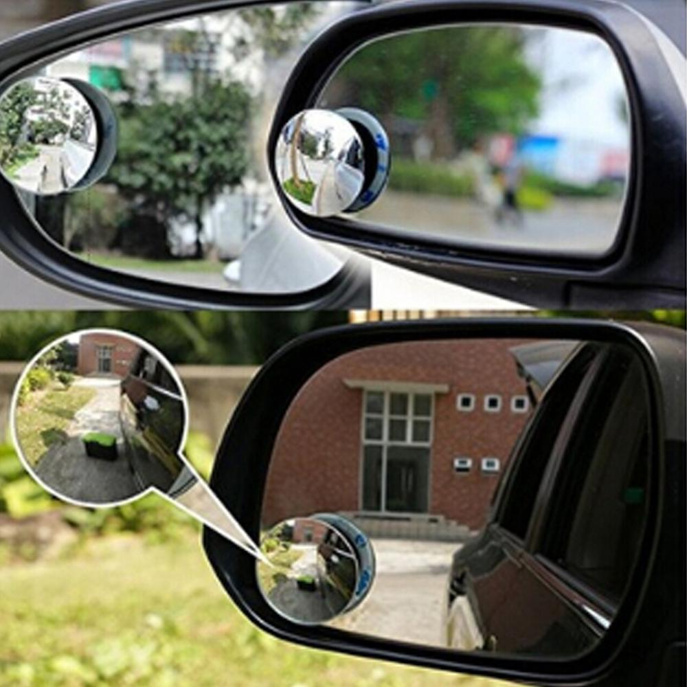 4 Pack Blind Spot Convex Mirror For SUV Cars Rust Resistant Wide Angle 360 Rear