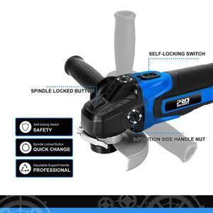 Image 3 - Cordless Angle Grinder 20V Lithium Ion 4000mAh Battery Machine Cutting Electric Angle Grinder Power Tool By PROSTORMER