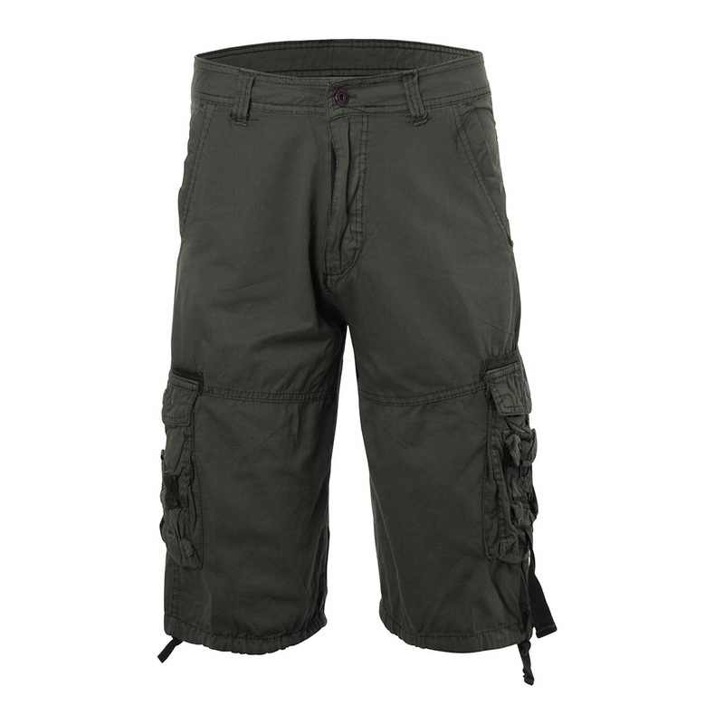 CYSINCOS Classic Cargo 1/2 Lunghezza Dei Pantaloni Degli Uomini Pantaloni Militari Vintage Tasche Solido Pantaloncini Per Lo Sport Pantalone Hombre Tactical Pant