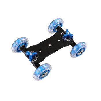 Mobile Rolling Sliding Dolly Stabilizer Skater Slider 11Articulating Magic Arm Camera Rail Stand Photography Car For GoPro 7 6 image