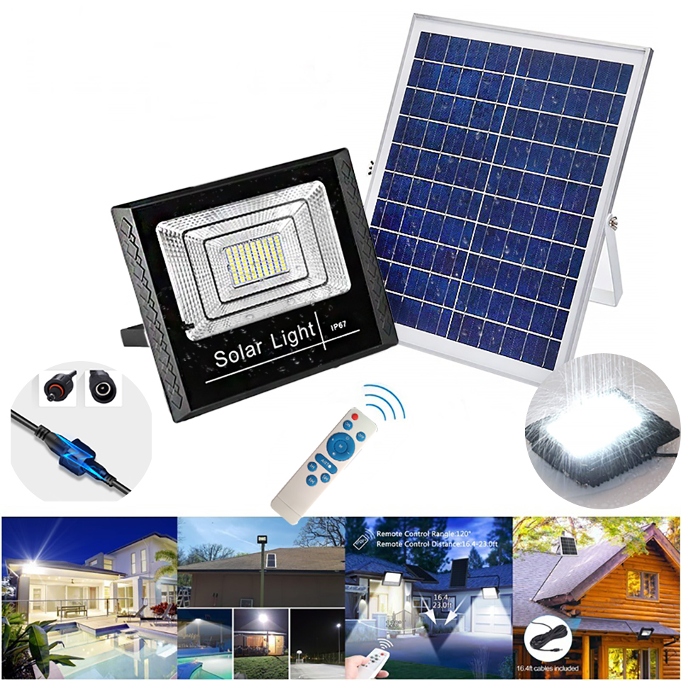 25W/45W/65W Solar Garden Light Outdoor Waterproof LED Floodlight Spotlight Solar Lamp IP67 Outdoor Park Garden Solar Flood Light