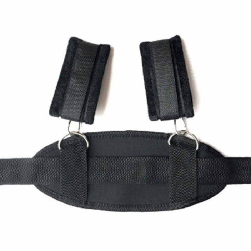 성인 게임 커플을위한 섹스 토이 Handscuff Neck Ankle Cuffs Leg Open Thigh BDSM 섹스 본디지 제한 슬레이브 스트랩 섹스 제품