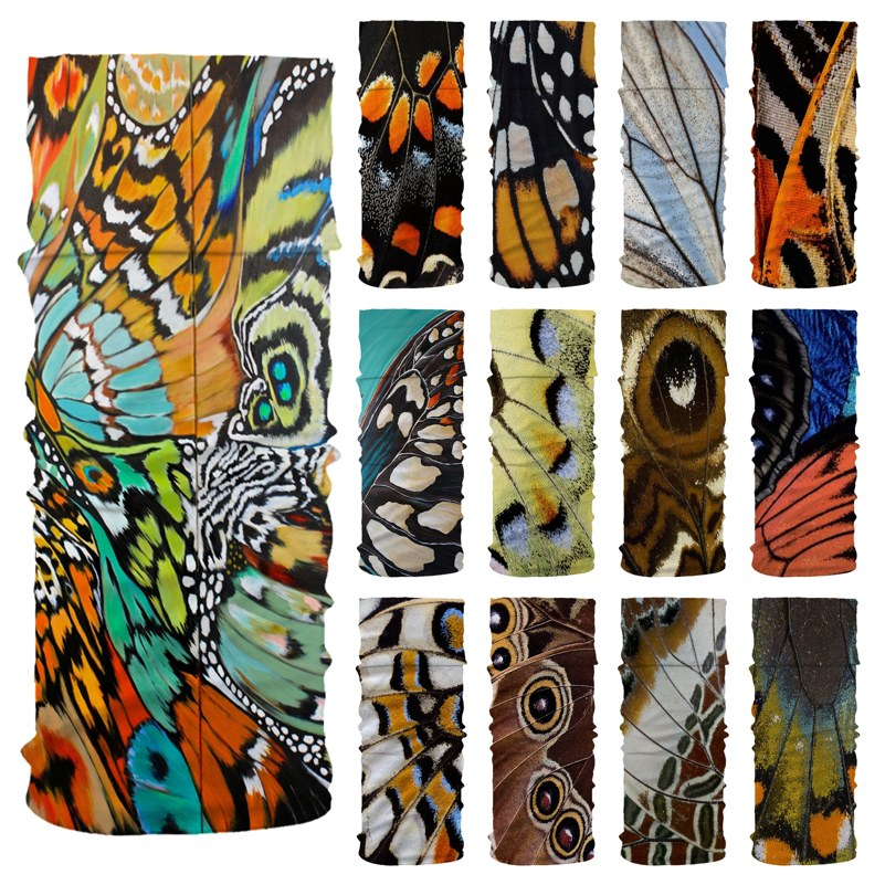Butterfly Pattern Magic Head Face Mask Neck Gaiter Snood Headwear Outdoor Sport Camping Hiking Cycling Tube Scarf Headband Masks