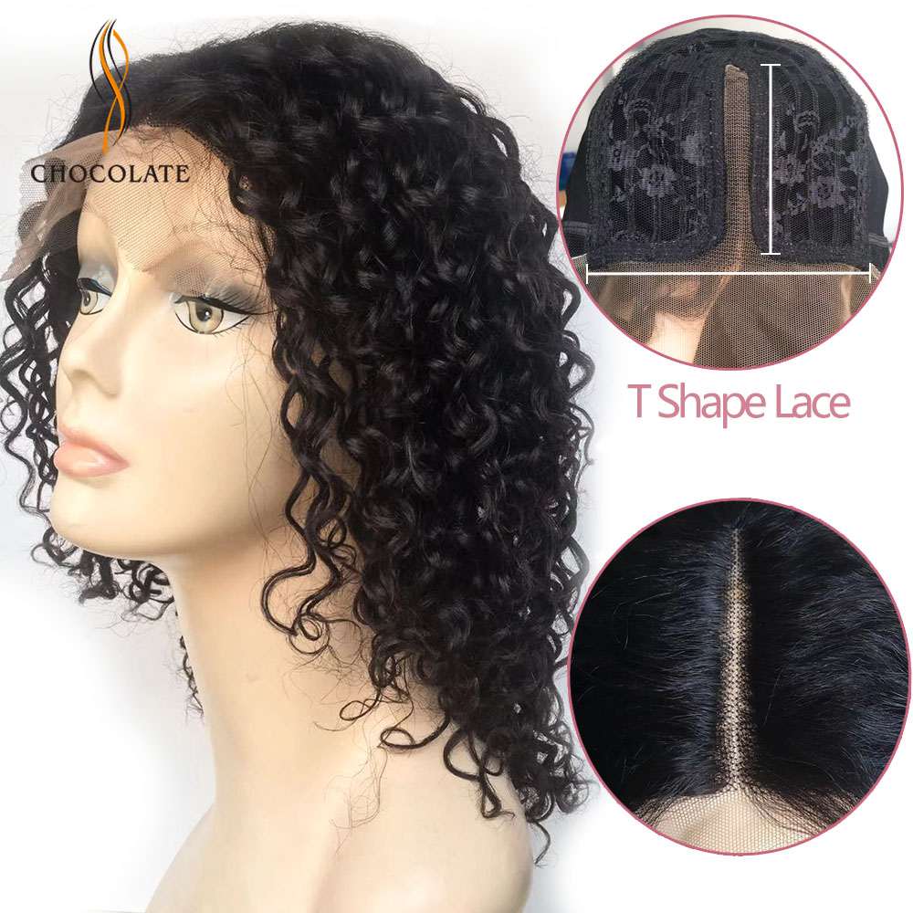 150% Curly Human Hair Wigs For Black Women 4*2 Remy Brazilian Human Hair Lace Wig Middle Part Womans Wigs With Baby Hair