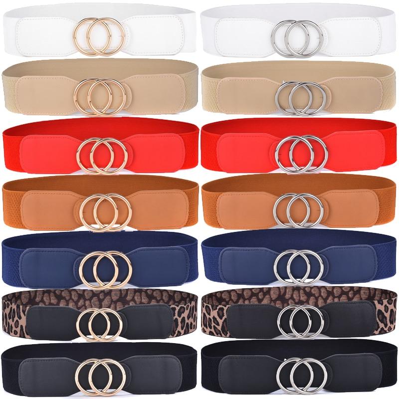 Women Fashion Waist Belt Narrow Stretch Dress Belt Thin Buckle Waistband Ne/_vi