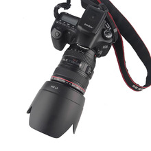 Camera Lens Hood Bayonet Mount Fit for Canon EF 24 105mm f/4L IS USM 77mm Filter Lens (Incompatible with Full Frame DSLR)