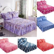 Bunk Bed Cover Pillowcase Three-piece Skirt Thickened Quilted Aloe Cotton Cotton Skin Cotton Bed Single Piece 1.5*2m(China)