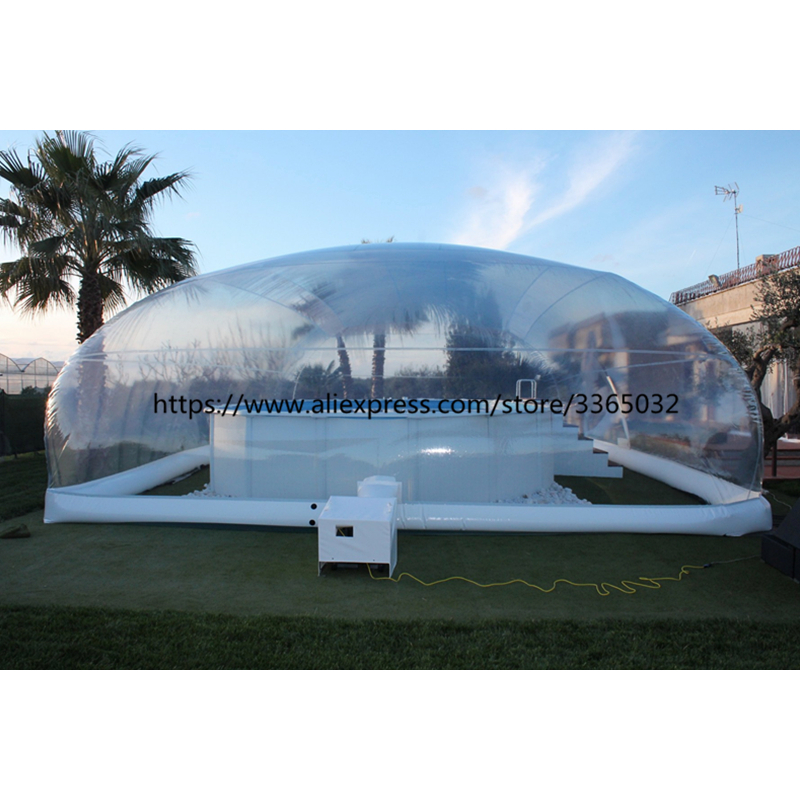 Customized Outdoor Blow Up Uk Inflatable Dome Above Ground Pool Cover For Sale