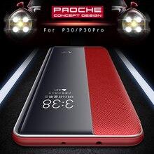 P20 Proของแท้สำหรับHuawei P30 Proกรณีสมาร์ทSleep/Wake UpสำหรับHuawei p20 Pro Protector Cover