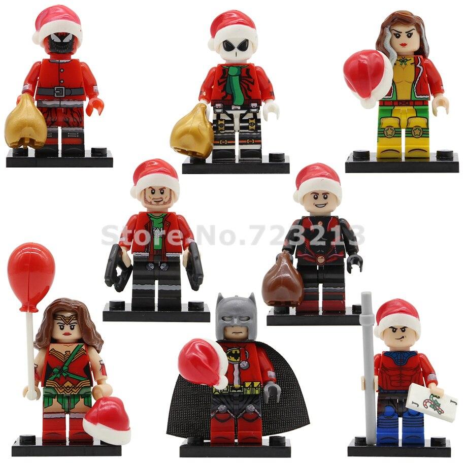 PG8199 Christmas Super Heroes Figure Batman Venom Wonder Woman Ant-Man Gambit Star-Lord Lasher Building Blocks Toy Legoing