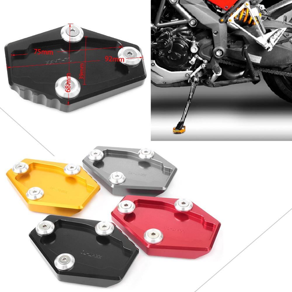 Motorbike Kickstand Foot Side Stand Enlarger Foot Pad Extension Plate for DUCA TI 899 1199 1299 Panigale Artudatech Motorcycle Side Stand Plate
