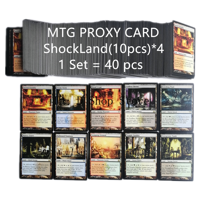 2019 Best Selling DualLand(40pcs),P9(36pcs),FetchLand(40pcs),PROXY Card MTG Card Magic Cards