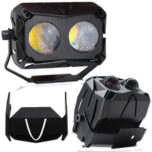 Double Colors Projector Bi LED Lens Headlight high low beam white Yellow white 60W for 4x4 Off road Car Fog lights Motorcycle