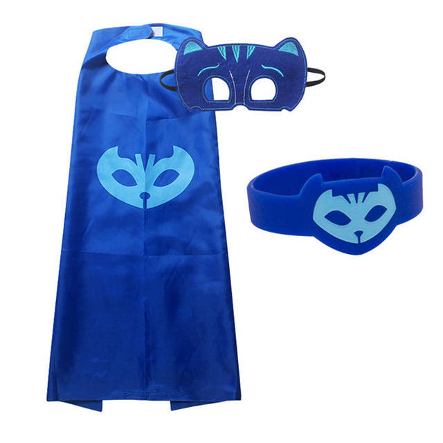 PJ Masks Children Mask Cloak Cosplay Half Face Mask Funny Halloween Party Decor Mask Superhero Anime Figure Masks Toy Kids Gift 1