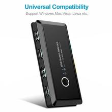 Durable USB 3.0 Switch Selector 4 Port USB Sharing Switcher For PC Scanner Mouse Printer USB Switch  for Keyboard Monitor