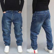 Шаровары в стиле хип хоп джинсы мужские повседневные джинсовые