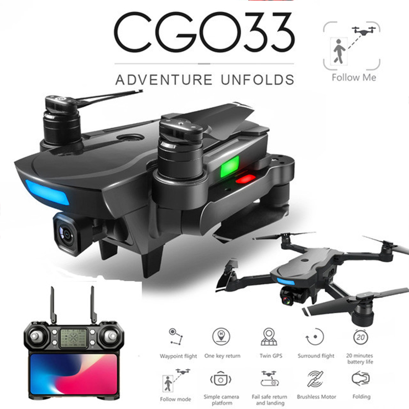 CG033 Brushless <font><b>FPV</b></font> Quadcopter with 4K HD Wifi Gimbal Camera RC Helicopter Foldable <font><b>Drone</b></font> GPS <font><b>Drone</b></font> vs SG906 F11 zen k1 image