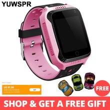 GPS Tracker çocuklar izle akıllı GPS saatler kamera el feneri SOS çağrı konumu bebek doğum günü çocuk saatler Q528 2G veri SIM kart