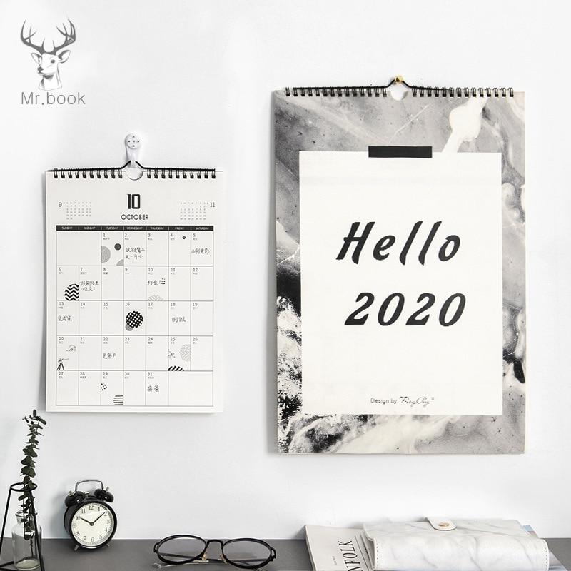 Hello 2020 Creative Moon Calendar To Do List Agenda Wall Hanging Calendar Decoration Daily Planner Organizer For School Office