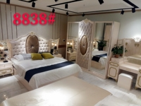 Bedroom Set Quarto Real New Design High Quality Low Price King Size Bed, Night Stand, Wardrobe, Dresser , Bedroom Set