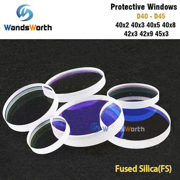Wandsworth laserowe okna ochronne D40-seria D45 krzemionka topiona kwarcowa do zgrzewarki światłowodowej 1064nm tanie i dobre opinie JGS1 Quartz Fused Silica Other Fiber Laser Cutting Protective Windows D40 - D45 Precitec Raytools WSX 900-1100nm