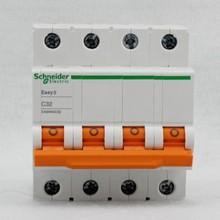 EA9AN-C 4P 6A 25A 32A three-phase four-wire miniature circuit breaker leakage protector air switch 230/400VAC three phase four wire earth leakage circuit breaker dz20le 400 4300 4p 350a black