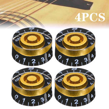цена на 4Pcs Guitar Volume Control Knobs Speed Volume Tone Control Knobs For Gibson Les Paul Electric Guitar Accessories