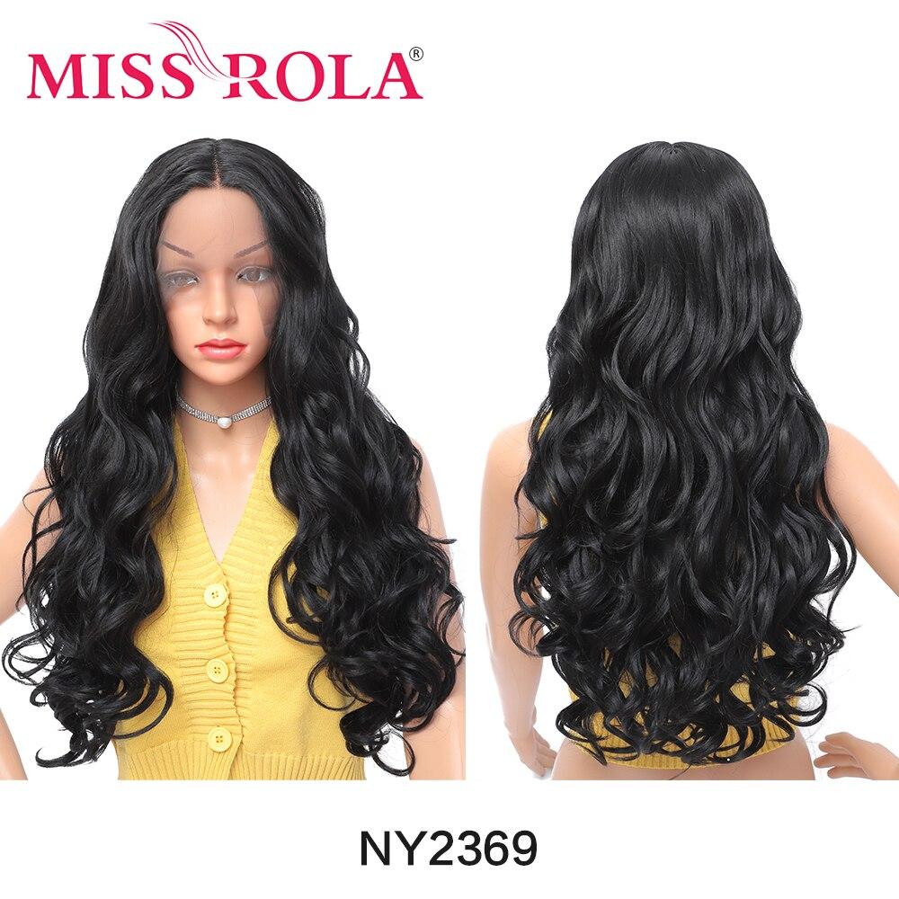 Miss Rola dentelle avant perruques longue densité naturelle noir perruque droite résistant à la chaleur fibre cheveux perruques synthétiques perruques pour les femmes noires