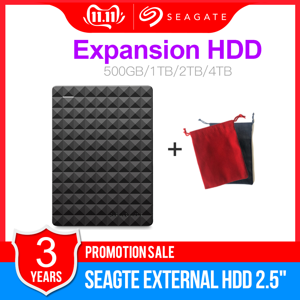 Seagate Expansion <font><b>USB</b></font> 3.0 HDD <font><b>1TB</b></font> 2TB 4TB Portable HDD 2,5