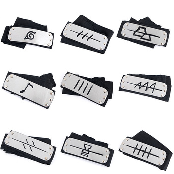 Anime naruto headband Leaf Village Logo Konoha Uchiha Itachi Kakashi Akatsuki Members cosplay costume Accessories Free shipping