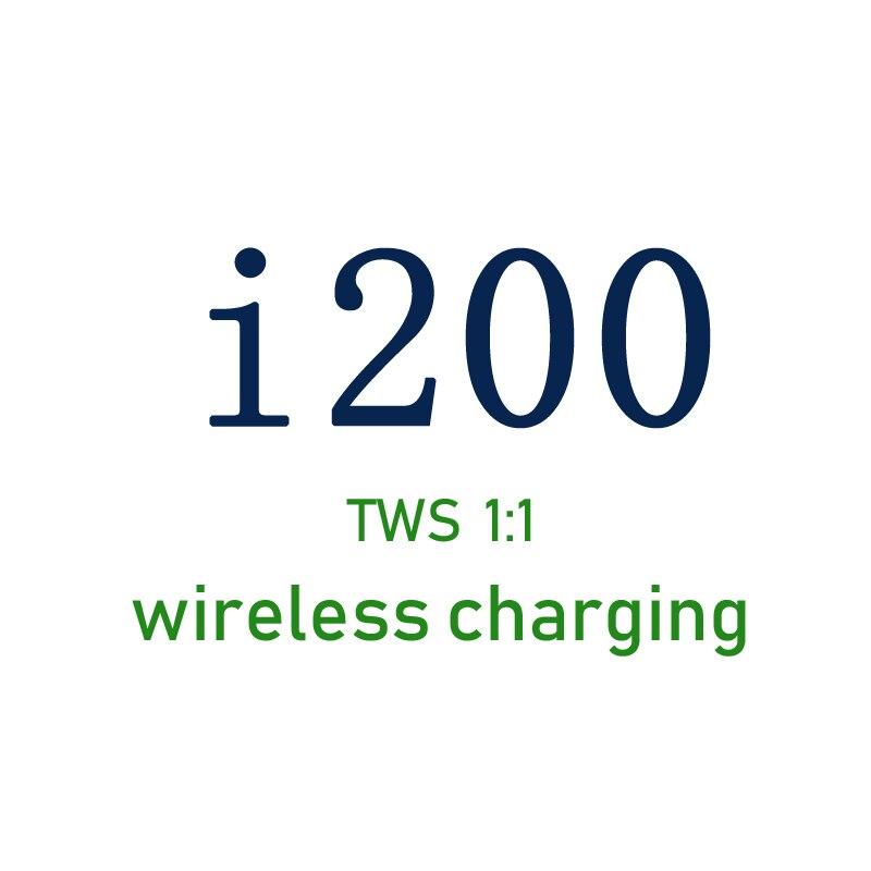 Nova i200 tws 1:1 air2 replica pop up conexão sem fio fone de ouvido qi carregamento sem fio pk chip i10 i60 i80 i500 i9000tws