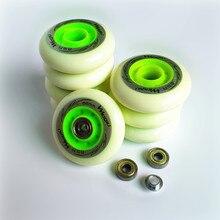 Patins inline rodas 85a 80mm 76mm 72mm roda de patinação pneu para seba fsk slalom hv alta ksj igor ruedas abec7 rolamento espaçador 4 peças