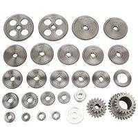 27Pcs Mini Drehmaschine Getriebe CJ0618 Metall Schneiden Maschine Getriebe Metall Getriebe Kit (Imperial)