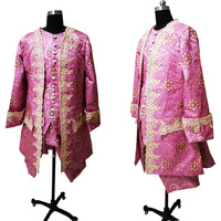 New pink Male costume Civil War Victorian Styled suit coat D 568