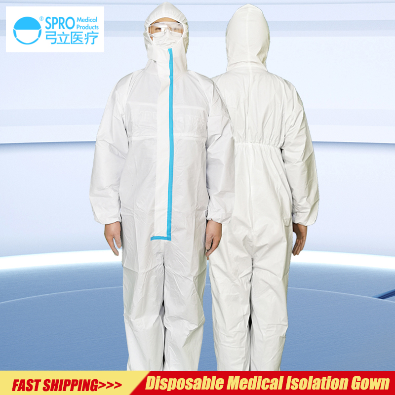 Medical Protective Clothing,One-piece Isolation Gown,Disposable Protective Clothing For Medical Personnel