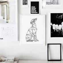 Minimalistischen Abstrakte Hund Poster Italienischen Windhund Wand Kunstdruck Leinwand Malerei Deer Nordic Wand bilder wohnzimmer Wohnkultur