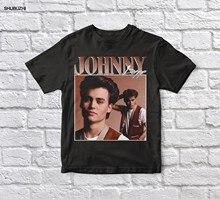 Johnny Depp 90s Preto Unisex Do Vintage Tshirt dos homens t shirt de algodão camiseta t-shirt dos homens summer fashion euro sizew